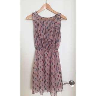 Small Owl Print Dress