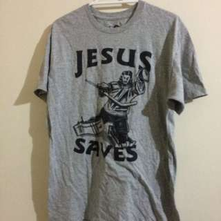 Jesus Saves Tee SIZE MEDIUM
