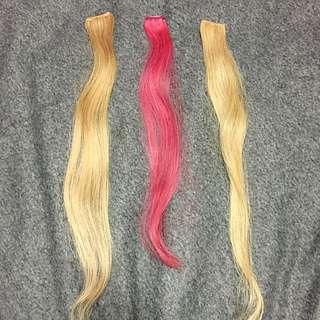 Human hair extention set