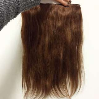 (REDUCED PRICE)Glamorous red brown human hair extention (clip in)