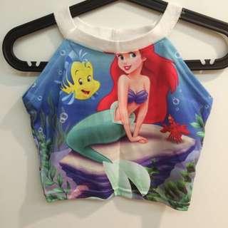 泰國品牌 小美人魚 削肩背心