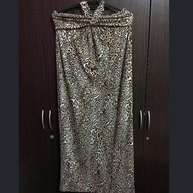 2-way Leopard Maxi Dress