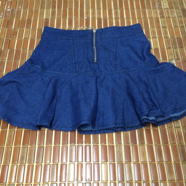 韓風牛仔短裙