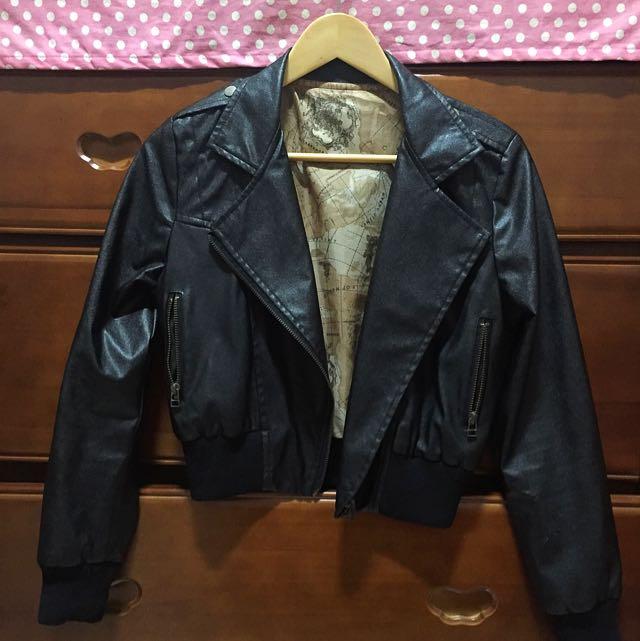 短版騎士外套