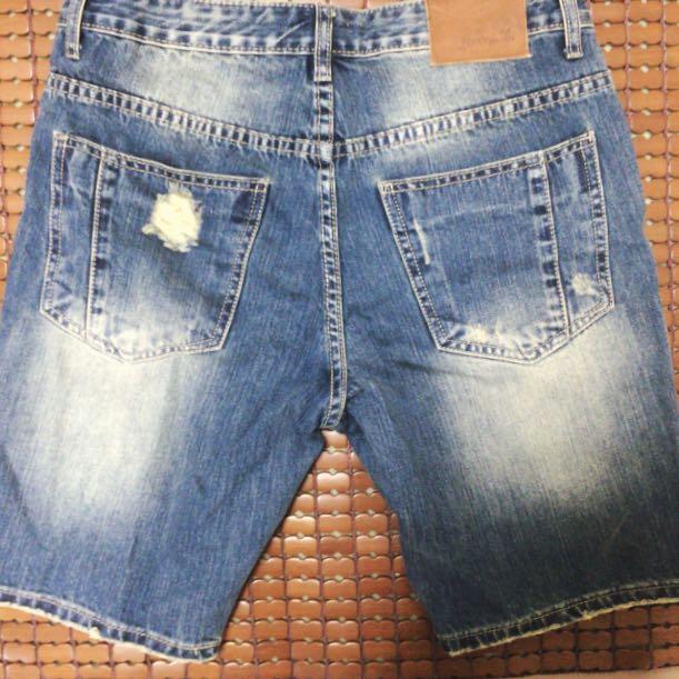 Fifty Percent 牛仔短褲 潮流短褲 破壞短褲 短褲