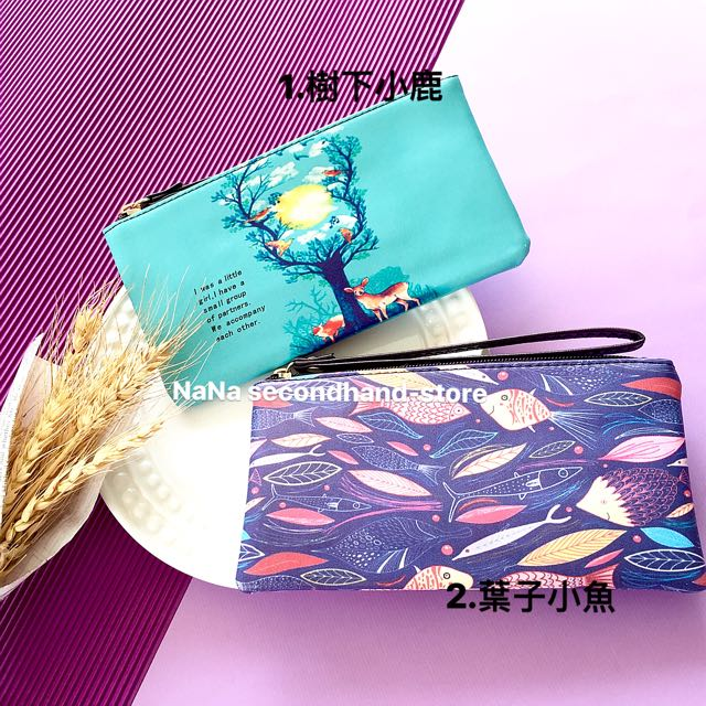 全新 超質感手拿包 女孩小包包 手機包 零錢包 超薄拉鍊化妝包