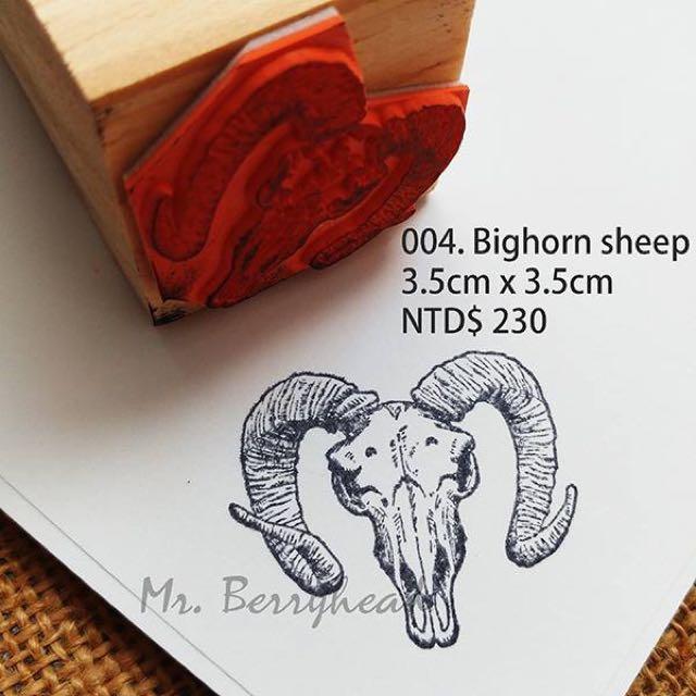 綿羊 骨骼 羊角 印章 traveler Notebook Tn 手帳