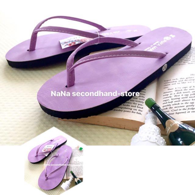 全新 富發牌FUFA 糖果色系夾拖鞋 夾腳鞋 平底拖鞋(紫色24)