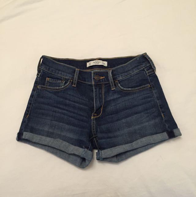 Abercrombie Dark-wash Shorts