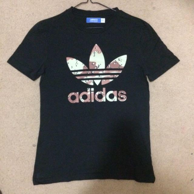 Adidas Black Camo Print Shirt