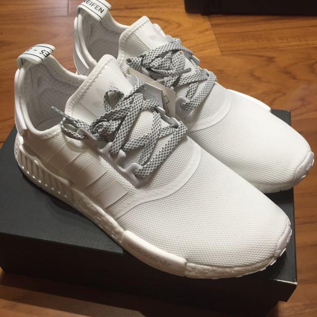 現貨adidas Originals NMD R1 全白配色 Us 8.5