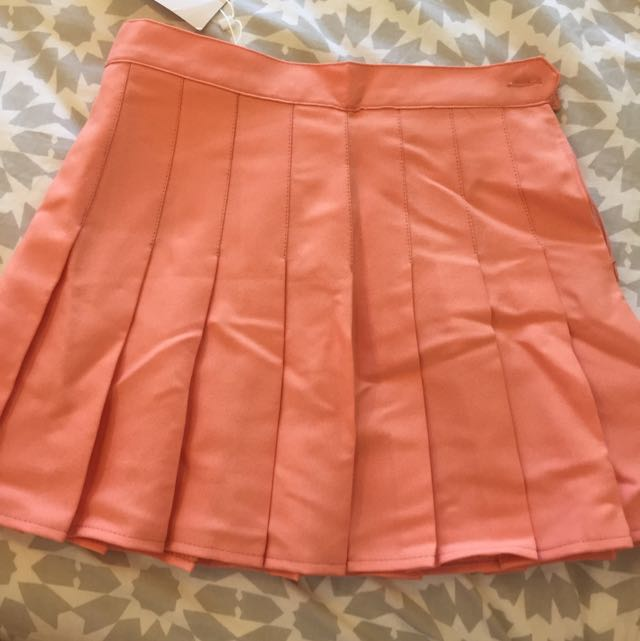 AMERICAN APPAREL BNWT peach Tennis Skirt With Pleats