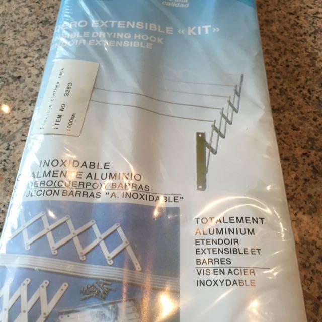 Amig Extension Aluminum Clothes Rack Hanger Retractable For Condo Hdb