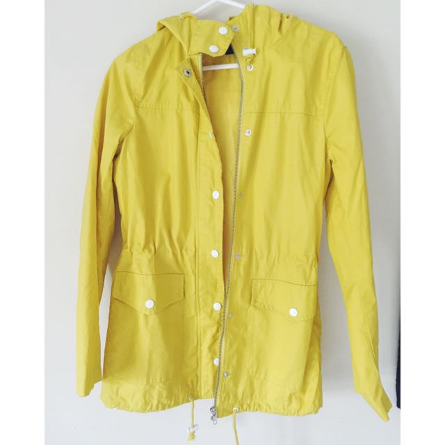 ASOS Coated Yellow Parker Size 8