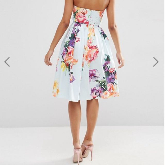 ASOS Fold Over Bandeau Bouquet Floral