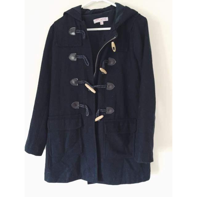 ASOS Navy Duffle Coat Size 6