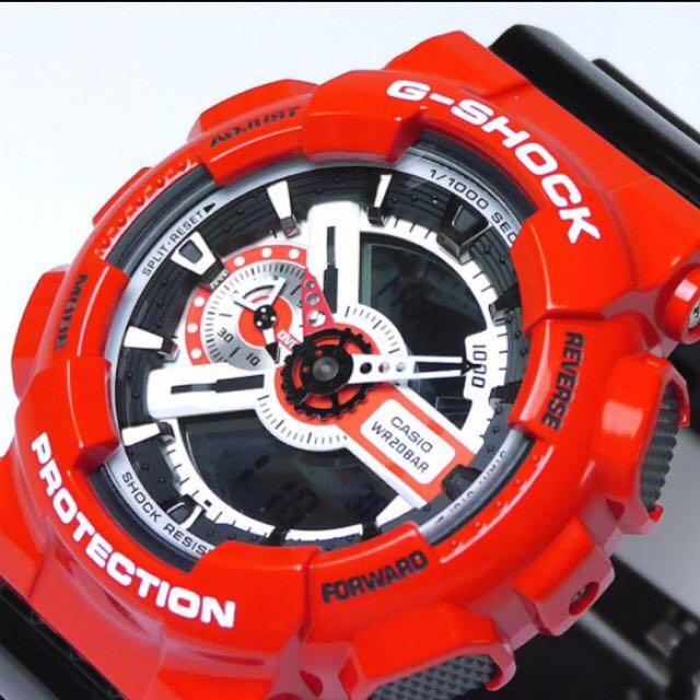 57451537d1b Authentic Brand New Casio G-Shock GA-110RD-4A Red Black Men s Watch ...