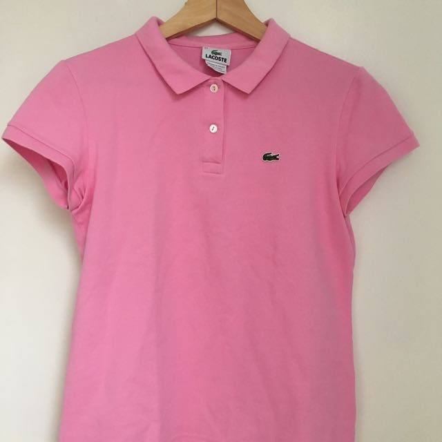 Authentic Lacoste Women's Polo Baby Pink