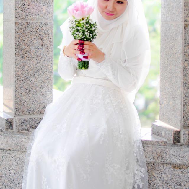 Baju Nikah  Sanding   Veil + Tudung Exclusive (Sewa) dc979ab52c