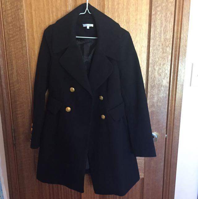 Black Tutu Style Coat
