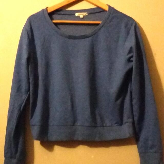 Blue Jumper Sweatshirt Valley Girl Size M