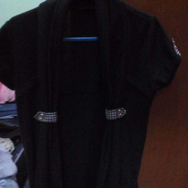 cardigan panjang dark blue