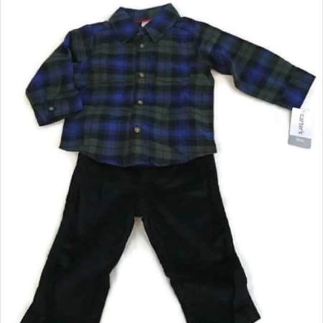 Carter's Baby Boy Clothes Polo And Pants Set (9 Months)