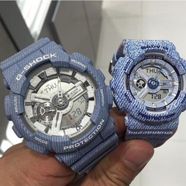 25a41c85a43f Casio Couple Design G-Shock   Baby-G Denim Series Pair Watch GA ...