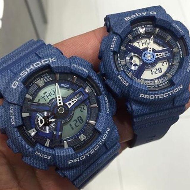 9f5398d68c0 Casio Couple Design G-Shock   Baby-G Denim Series Pair Watch GA ...