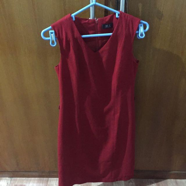 Dress Merah AFAF