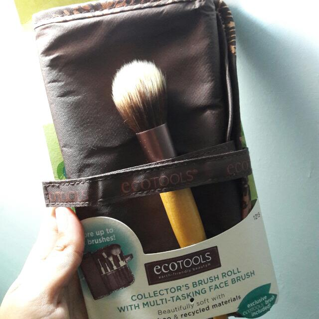 ECOTOOLS Collector's Brush Roll with Multi Tasking Face Brush
