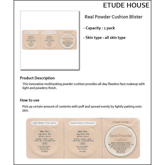 Etude House Real Powder Cushion Spf 50+