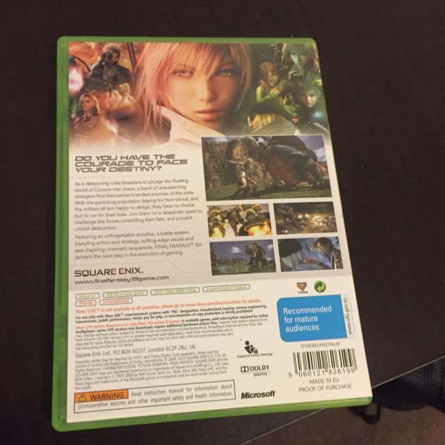 final fantasy XIII Xbox 360 game