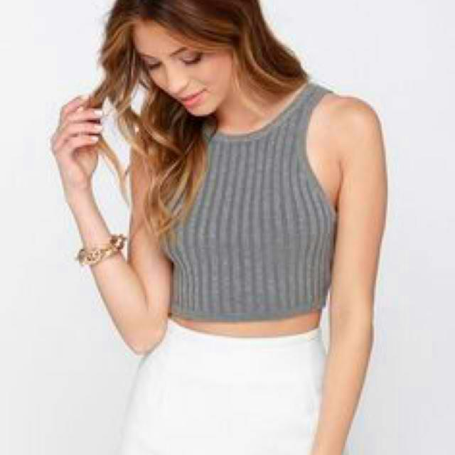 ✅FREE SHIPPING Halter Knitted Ribbed Crop Top