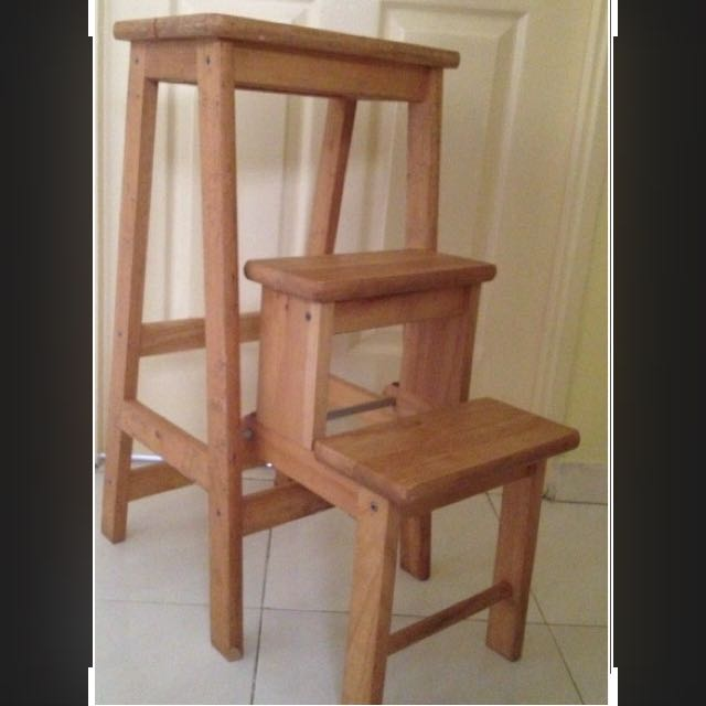 Inspirational Wood 3 Step Stool