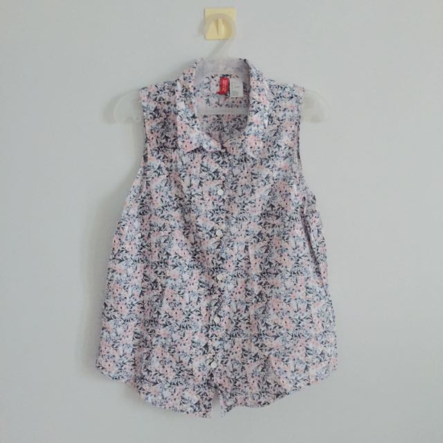 H&M Collared Floral Blouse