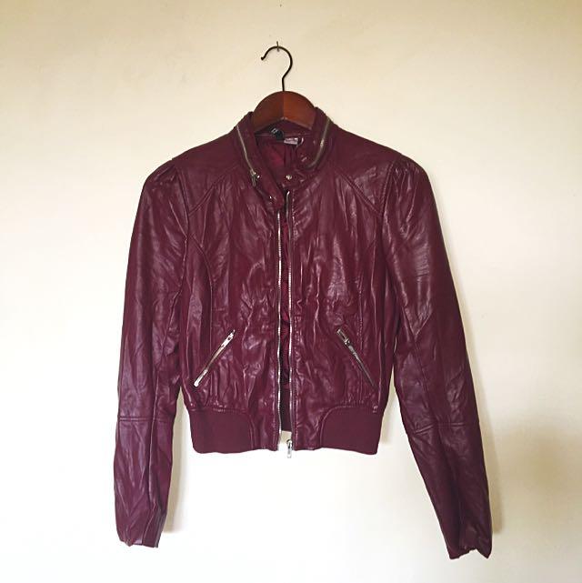 H&m Maroon Jacket