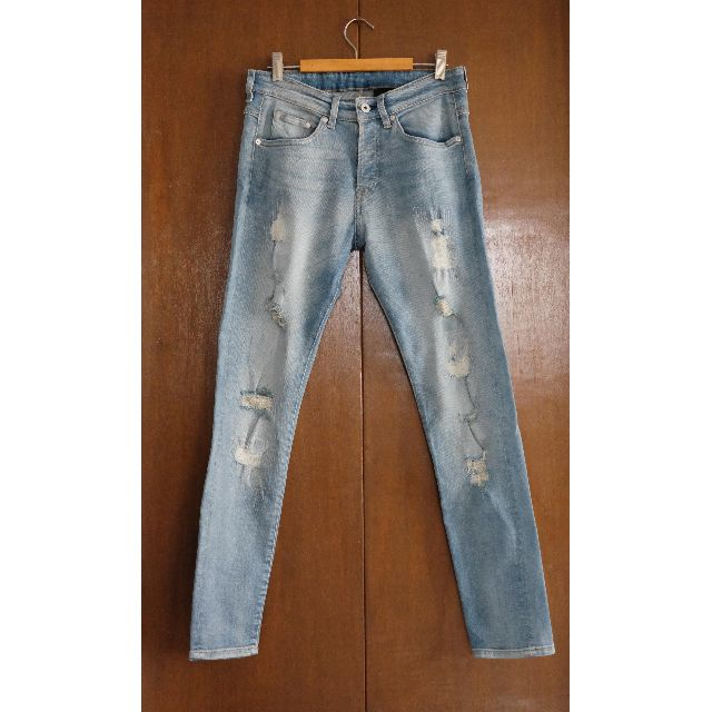 H&M Skinny Low Trashed Jeans