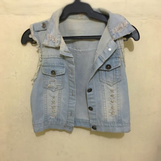 (Reserved)Maong Ripped Vest