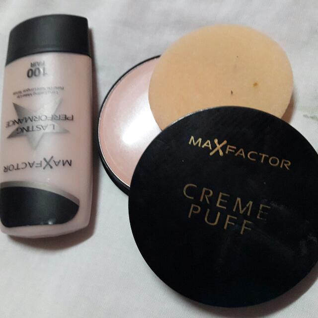 Maxfactor Creme Puff And Liquid Foundation