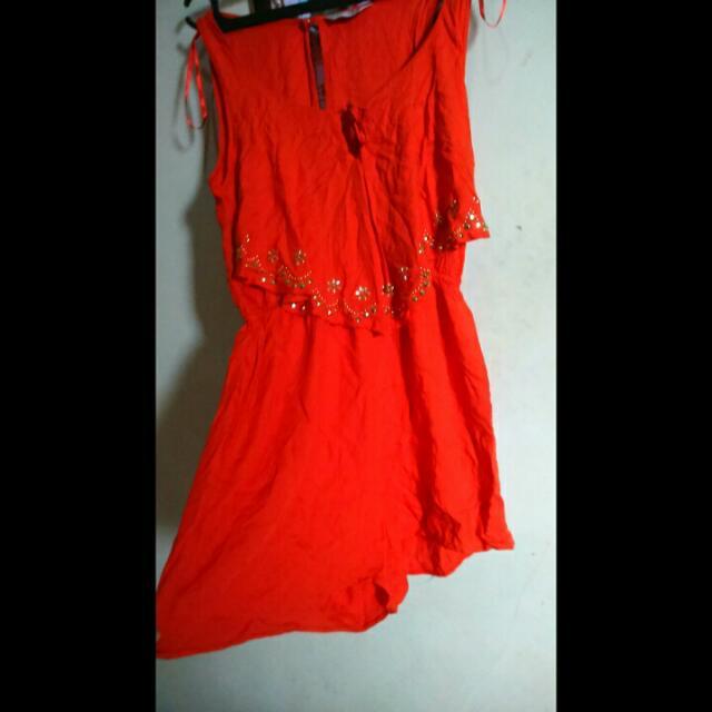 Miss Selfudge Orange Jumpsuit