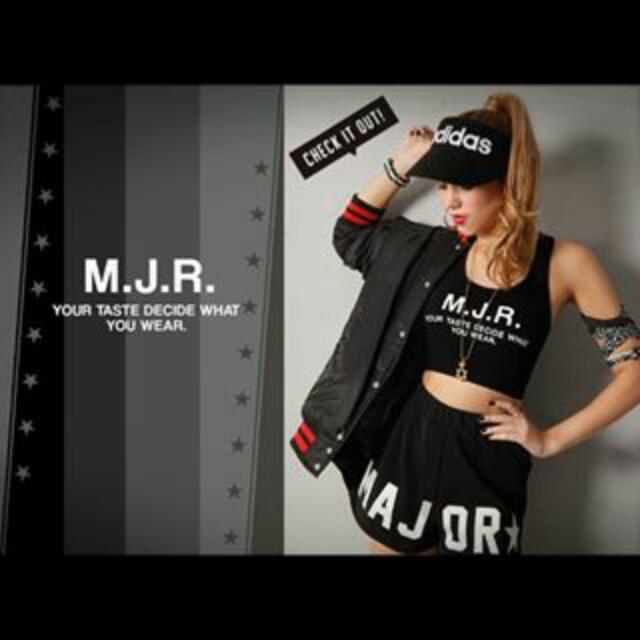 MJR 星星字母中性風運動短褲 Major Majormade 黑色