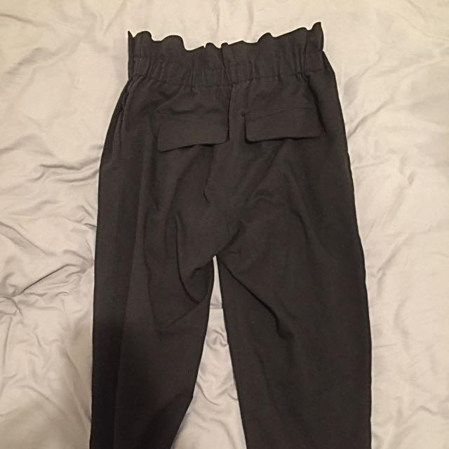 Mossman Black Cotton Pants
