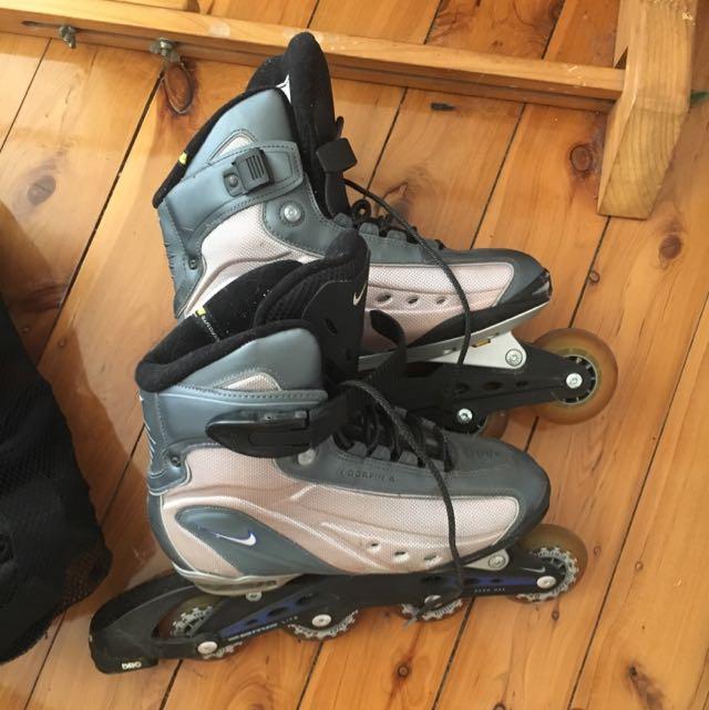 Nike N-Dorfin 4 Roller Skates + Safety Gear
