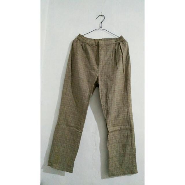 No Brand Plaid Trousers