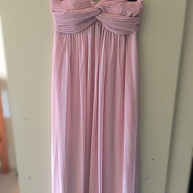Pale Pink Strapless Dress