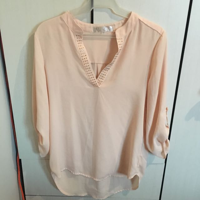 Peach Sheer Penelope Top
