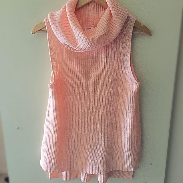 Pink Sleeveless Knit