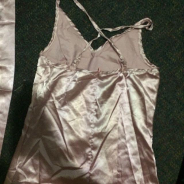 Silk Slip Dresses (black (Sold) And Pink)