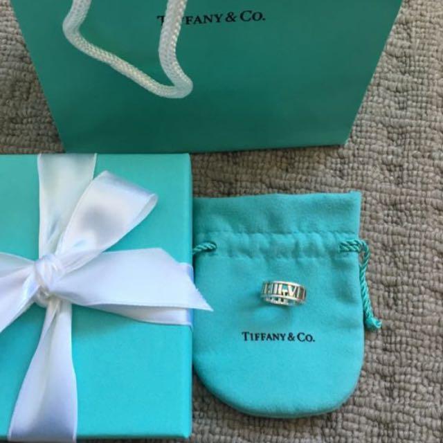 Tiffany&co Atlas Ring In Sliver Size 4.5
